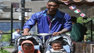 Star Gazing: Usher and Sons Take a Spring Stroll