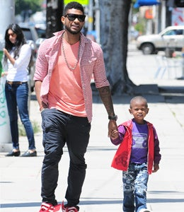 Star Gazing: Usher and His Son Take a Stroll in L.A.