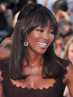 Look of the Day: Naomi's Haute Half-Up 'Do