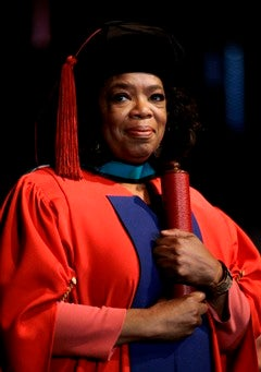 Oprah Receives Honorary Degree in South Africa