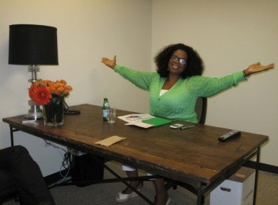 Coffee Talk: Oprah Tweets Photo of First Day as CEO of OWN