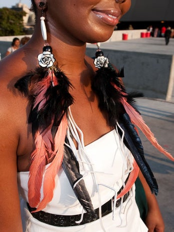 How to Wear: Feathered Earrings