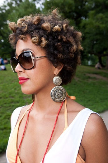 Street Style: Natural 'Dos