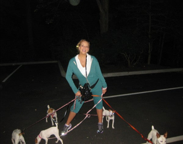 Mariah Carey Spotted Jogging with Her Puppies