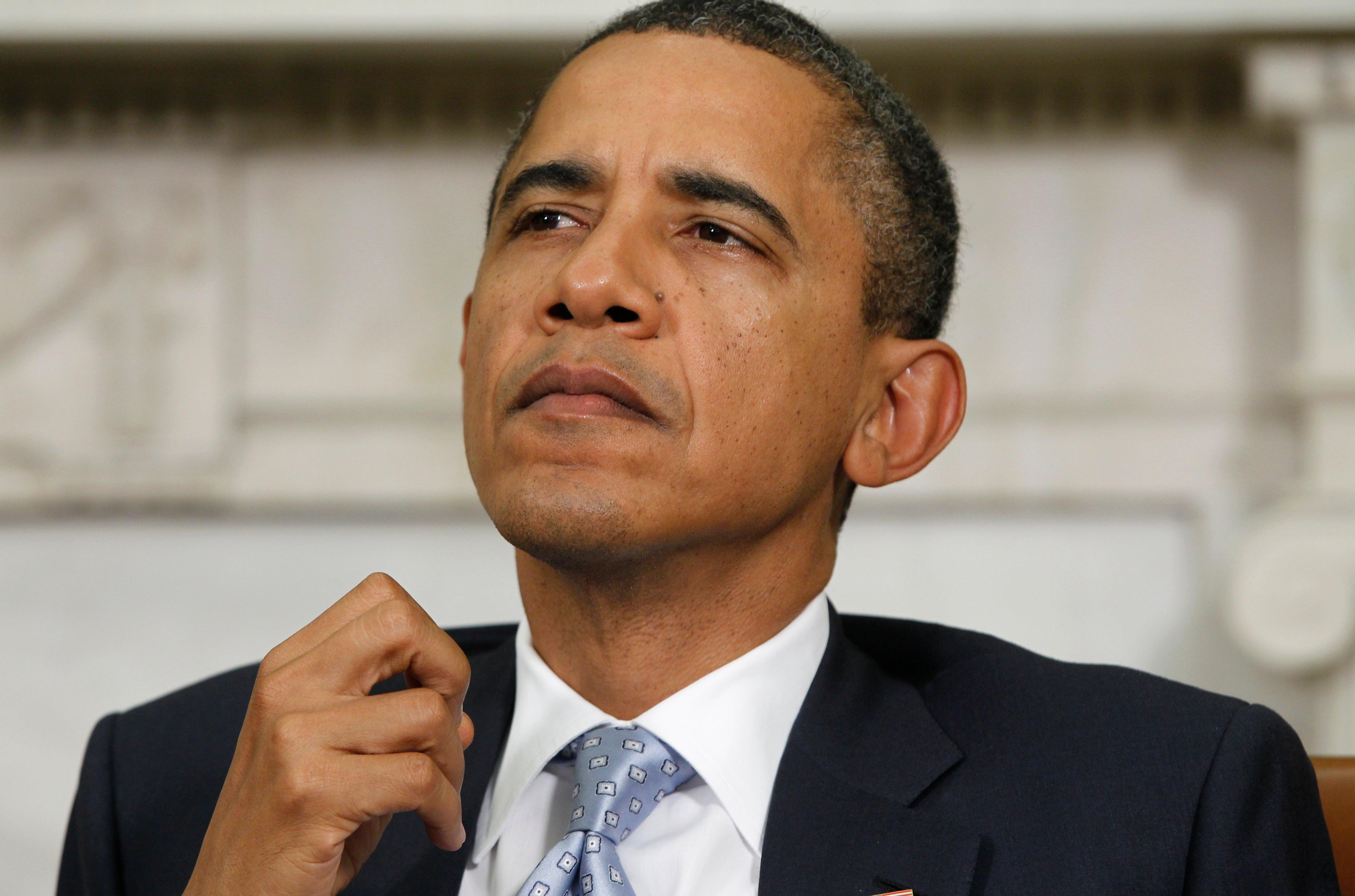 President Obama Praying for the Houston Family