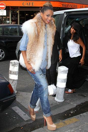 Celeb Style: Stars in Fur Vests