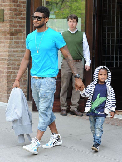 Usher's Son Hospitalized After Pool Accident