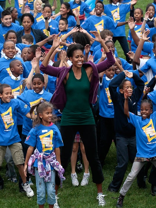 First Lady Jumps For Guinness World Record