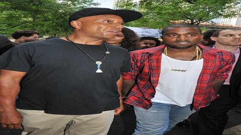Kanye West and Russell Simmons Visit Wall Street Protest