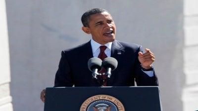 President Obama Speaks at Martin Luther King, Jr. Memorial