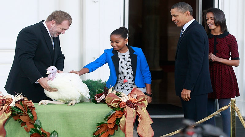 President Obama Pardons 2 Turkeys