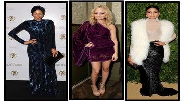 Celeb Style: Festive Fabrics