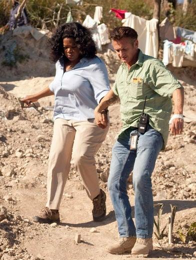 Oprah Visits Homeless in Haiti