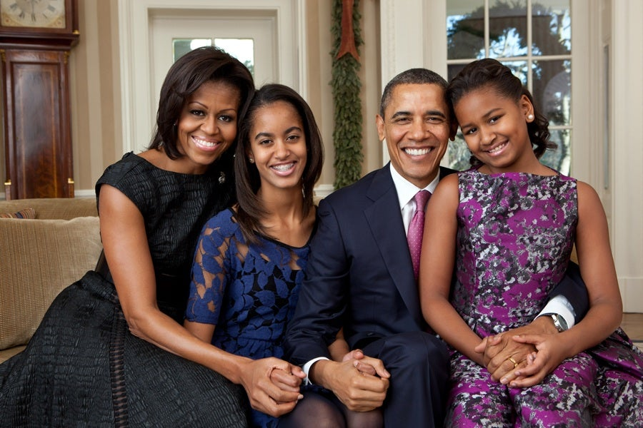 The Obamas Release New Family Portrait