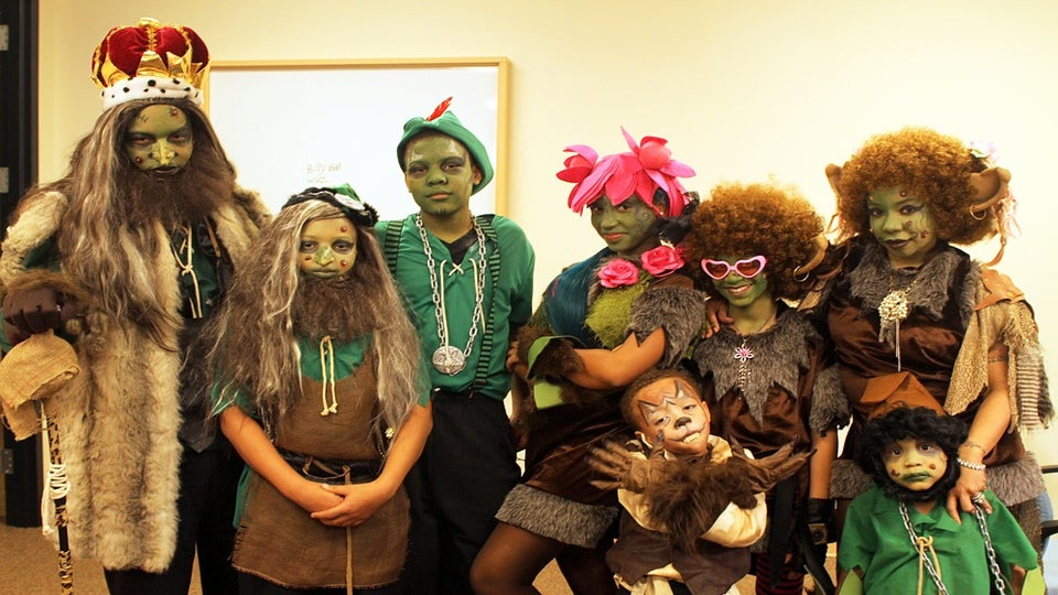 T.I. and Family Dress Like Shrek and Give Away Toys