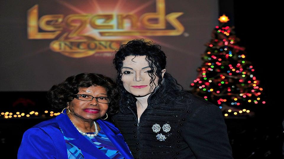 Katherine Jackson Meets Michael Jackson Impersonator