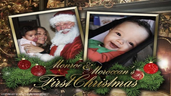 Mariah Carey Shares Christmas Photo of Twins