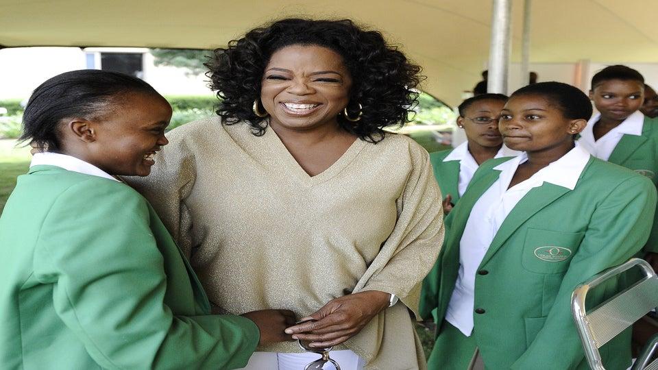 Oprah Celebrates South African School's First Graduation