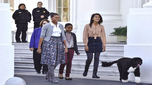 Michelle Obama and Her Daughters' Sweetest Moments