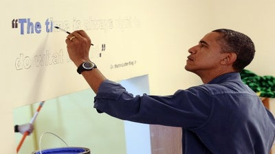 Pres. Obama, First Family Celebrate MLK Day with Service Project