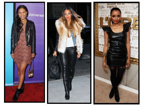 Celeb Style: Leather for Less