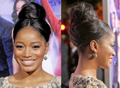 Look of the Day: KeKe Palmer's Sleek and Chic Topknot