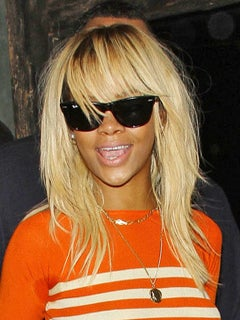 Look of the Day: Rihanna Steps Out in a Bold, Blond 'Do