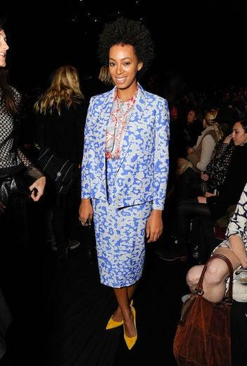 Celebrities at New York Fashion Week Fall 2012
