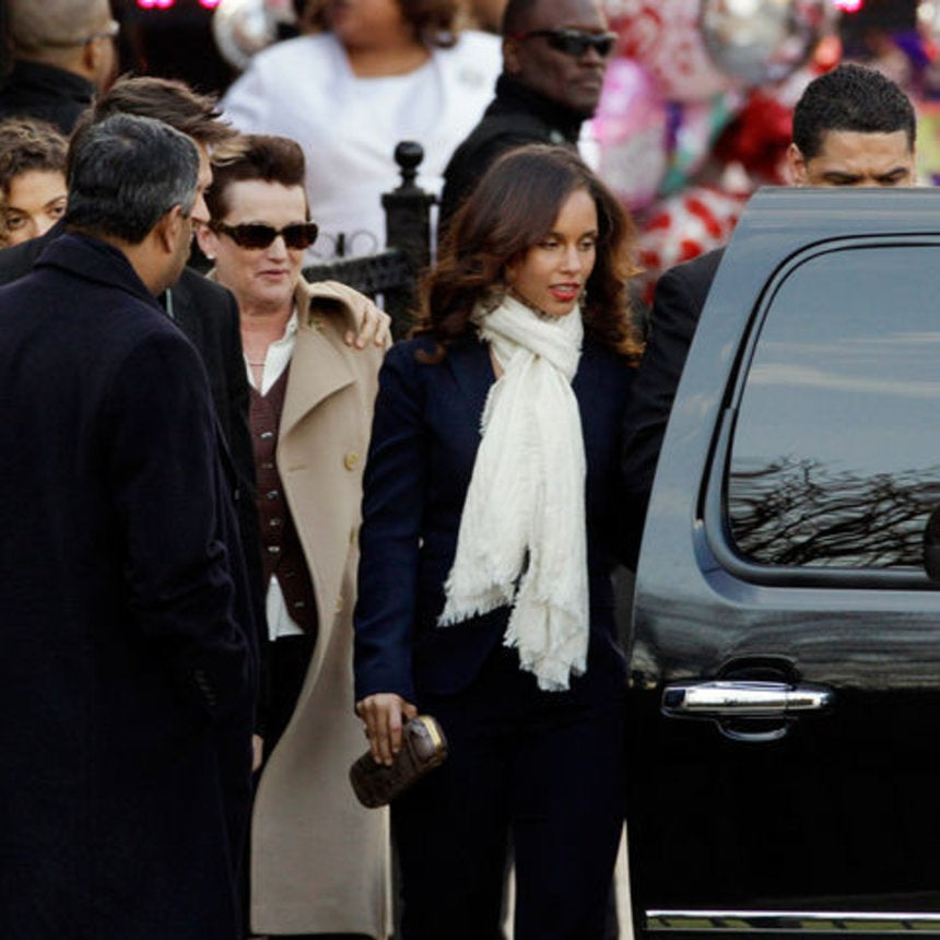 Word on the Street: Outside Whitney Houston's Funeral