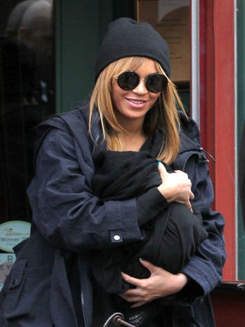 Beyonce and Jay-Z Make First Public Appearance with Blue Ivy