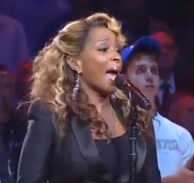 Must-See: Mary J. Blige Sings 'Star Spangled Banner' at NBA All-Star Game