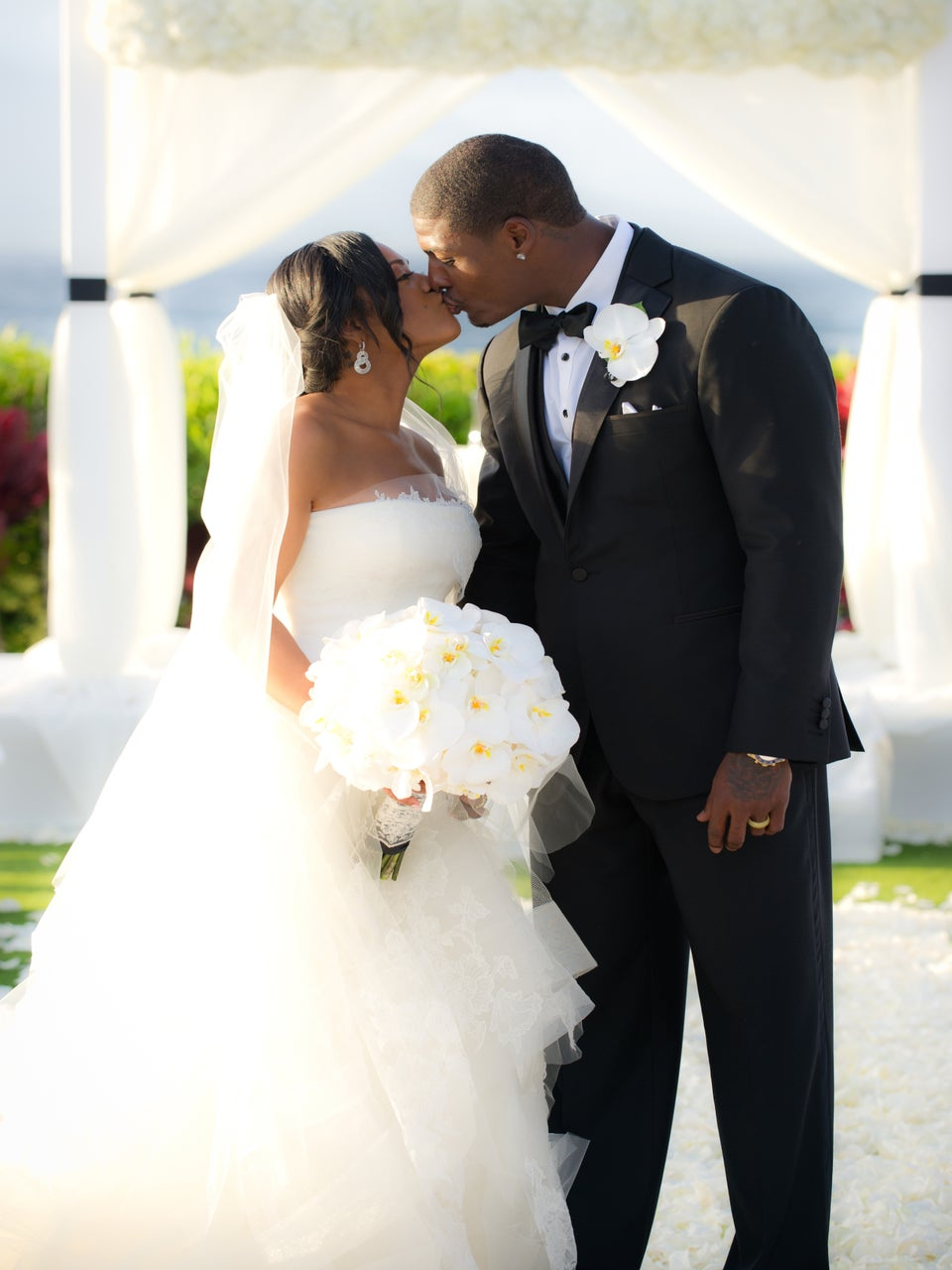 Bridal Bliss Exclusive: NFL Star Adrian Wilson & Wife Renew Vows