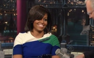 Must-See: Watch Michelle Obama on 'David Letterman'