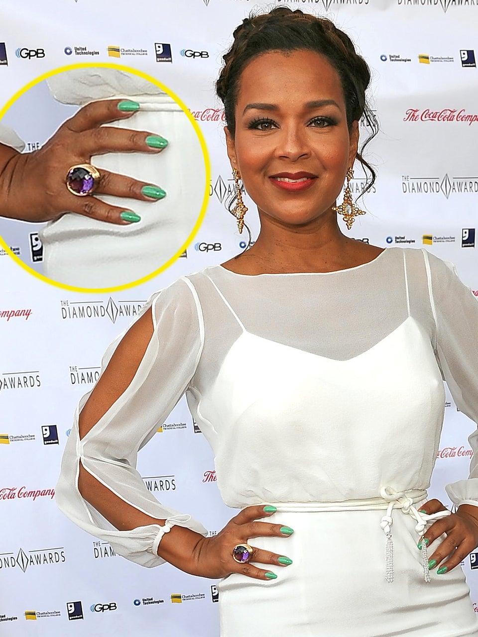 Go There: Lisa Raye's Seafoam Green Manicure