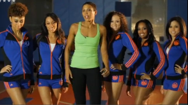 EXCLUSIVE: Celebrity Trainer Jade Alexis Works Out with the Knicks City Dancers