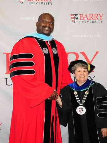 Shaquille O'Neal Earns Doctoral Degree from Barry University