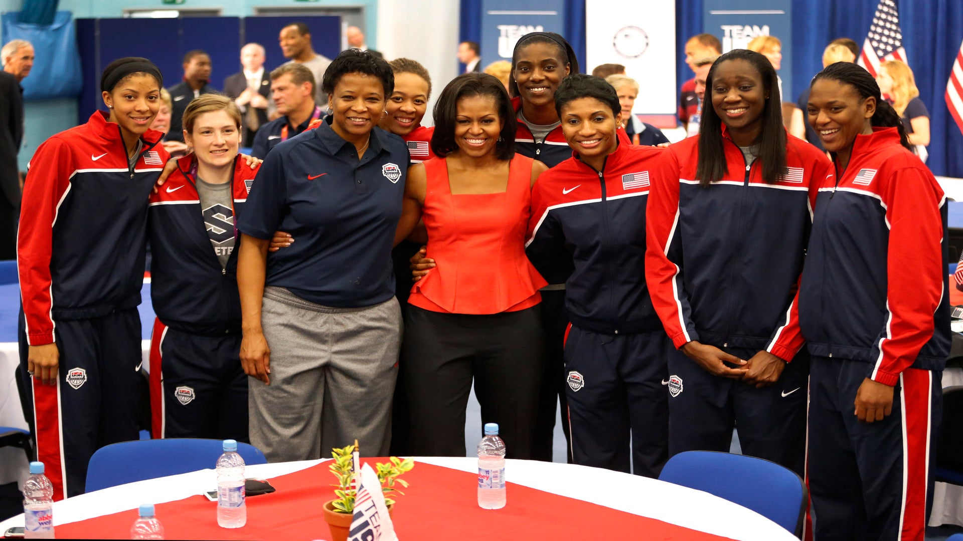 Michelle Obama to Olympians: Have Fun & Win!