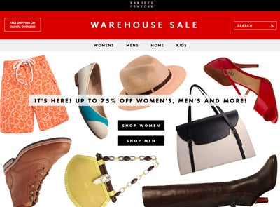 Hot Online: Barney's Warehouse Sale
