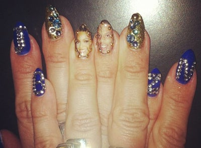 Gallery: Beyoncé Posts Photo of Manicure with Jay-Z's Photo & More Portrait Manicures