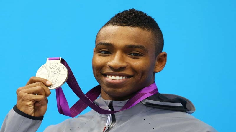 Team USA Swimmer Cullen Jones Wins Silver