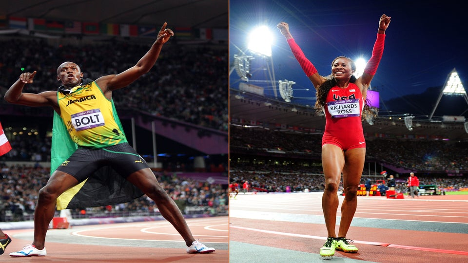 Usain Bolt and Sanya Richards-Ross Claim Gold in Olympic Track and Field