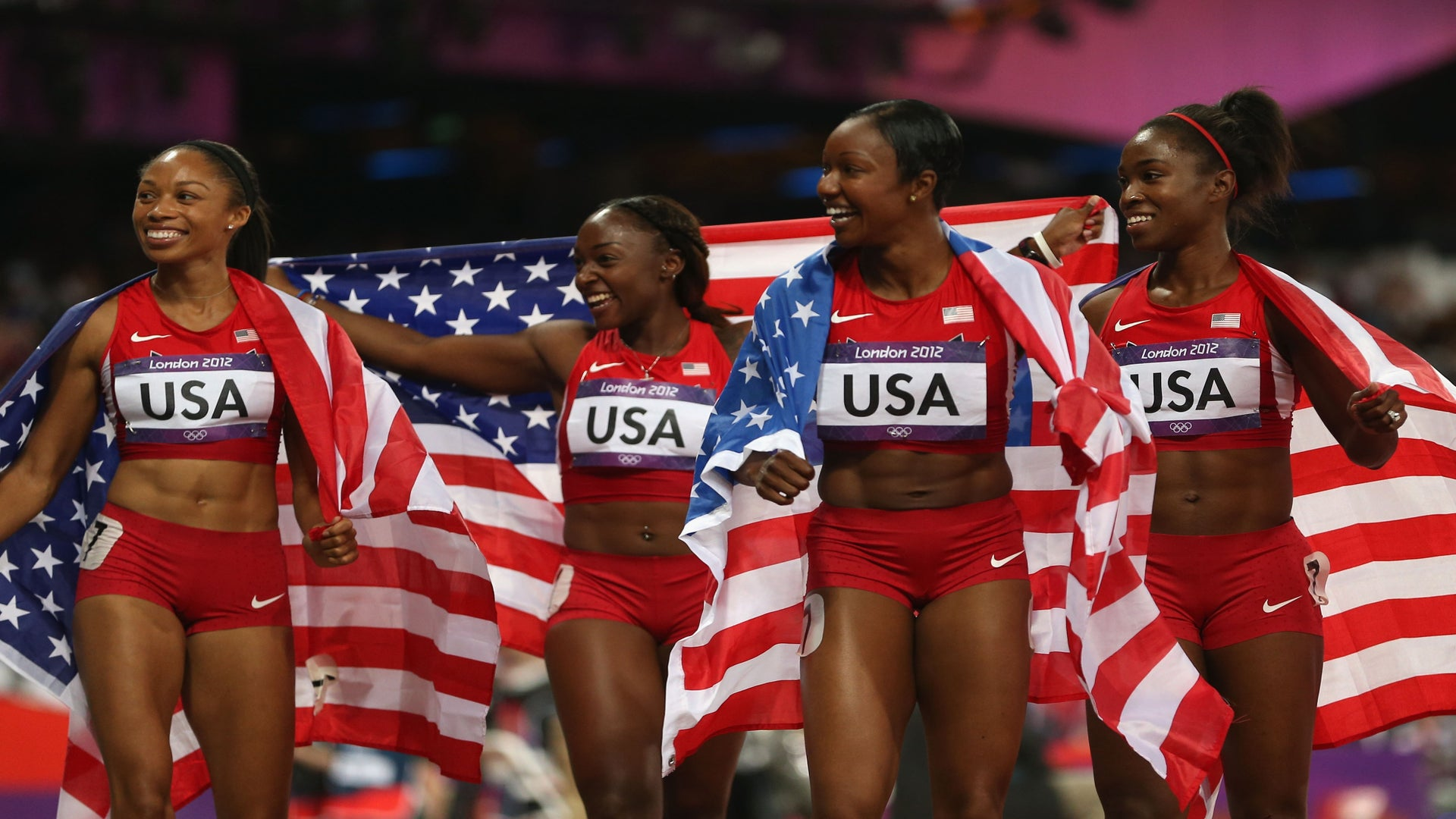 U.S. Women's 4×100 Relay Team Wins Gold, Breaks World Record