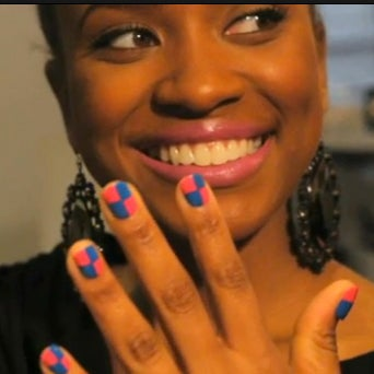 Beauty How-To: Create Checker-Design Nails at Home