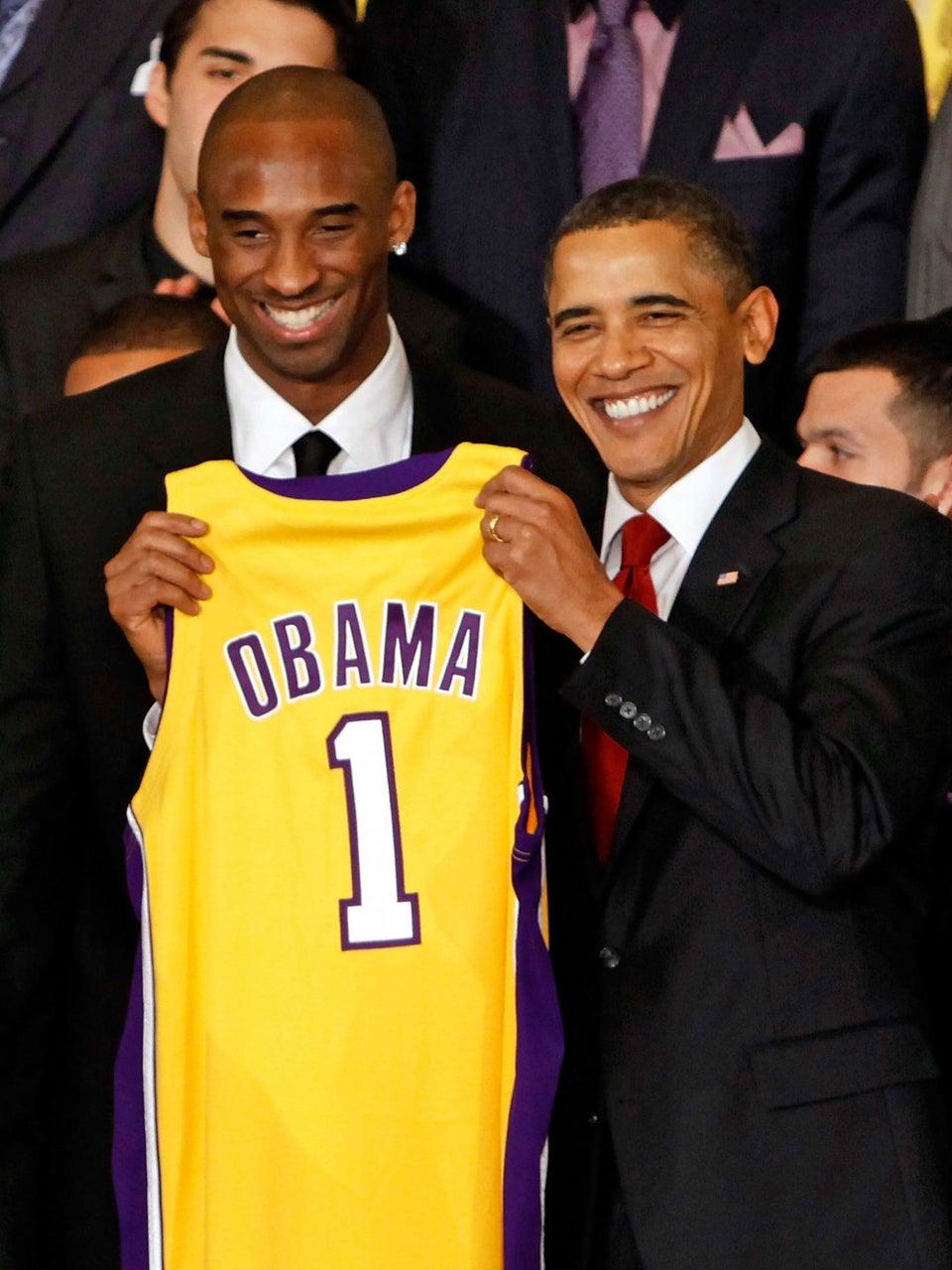 Kobe Bryant Dishes on Talking Trash on the Court with President Obama