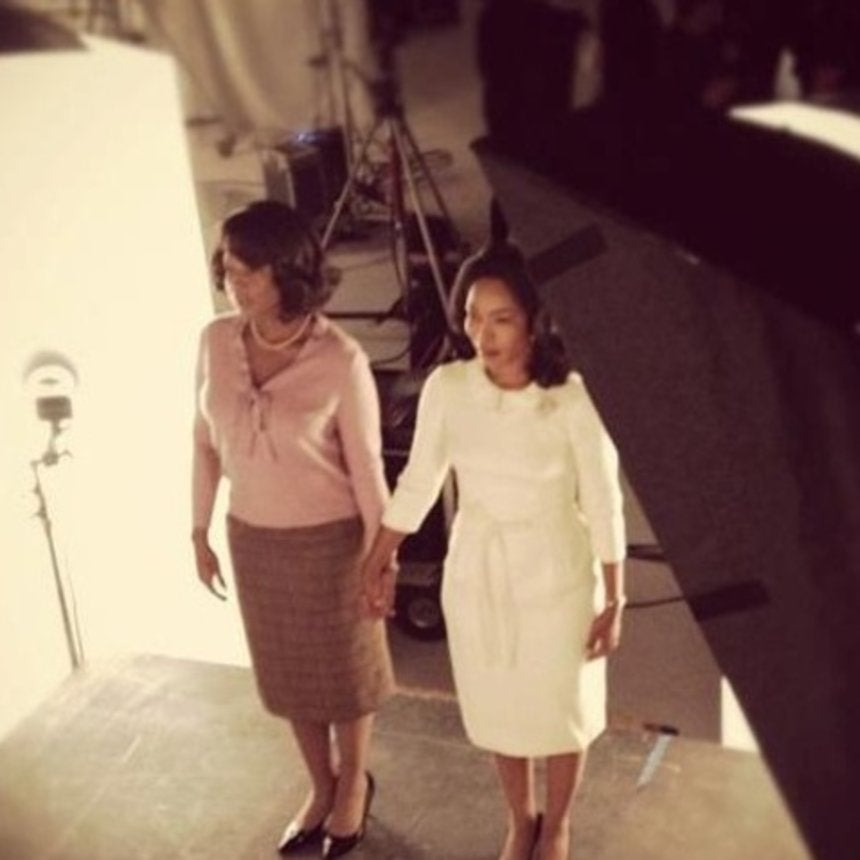 First Look of Angela Bassett & Mary J. Blige on the Set of Betty and Coretta