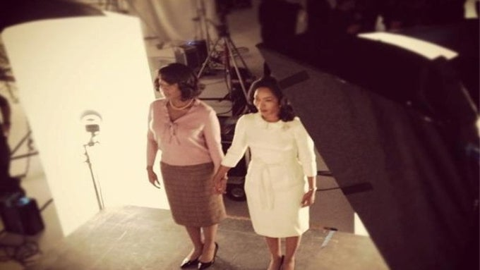 First Look of Angela Bassett & Mary J. Blige on the Set of <i>Betty and Coretta</i>