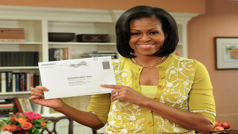 Coffee Talk: Michelle Obama Votes Early