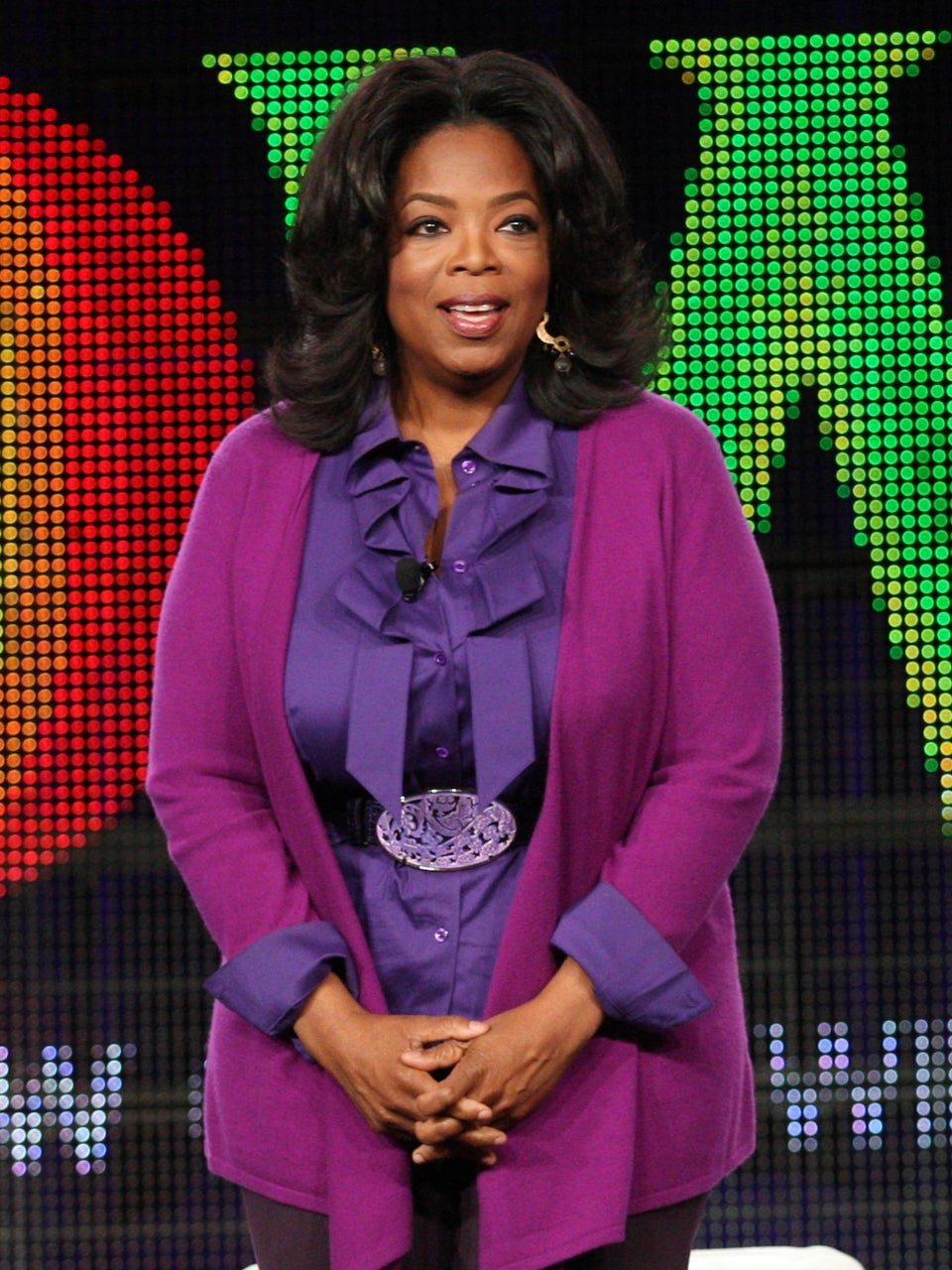 Coffee Talk: Oprah Strains Back Lifting Birthday Flowers from Tyler Perry