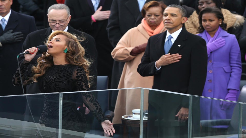 Must-See: Beyoncé Sings National Anthem at Inaugural Ceremony