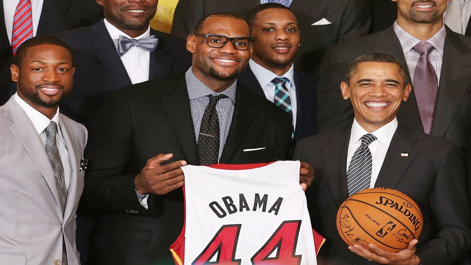 Obama Honors Miami Heat, Receives Job Offer